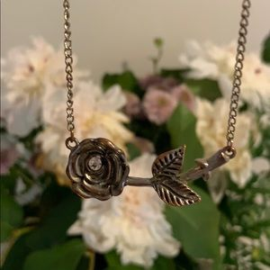 Distressed Rose Necklace